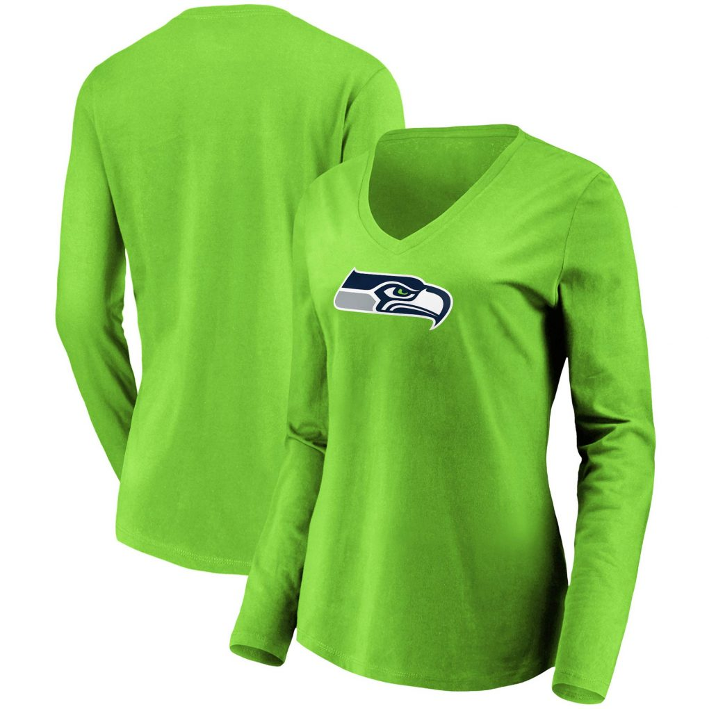 Women's NFL Pro Line by Fanatics Branded Neon Gree football jersey authentic