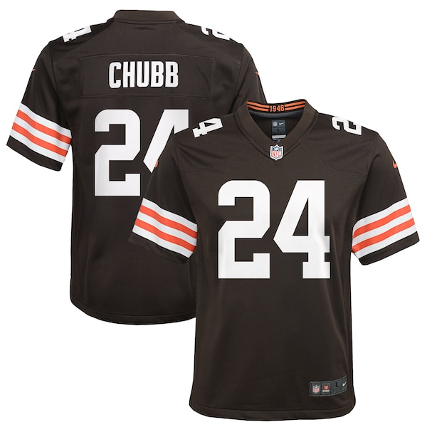 Youth Cleveland Browns Nick Chubb Nike Brown Game  nfl saints drew brees jersey