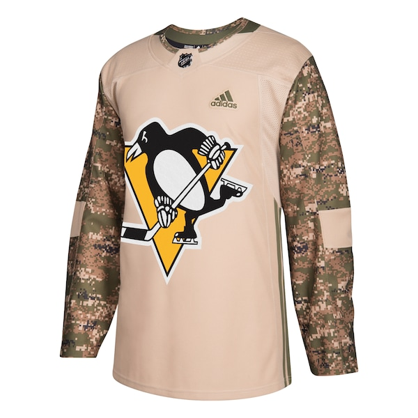 Men's Pittsburgh Penguins adidas Camo Veterans Day Mike Trout jersey